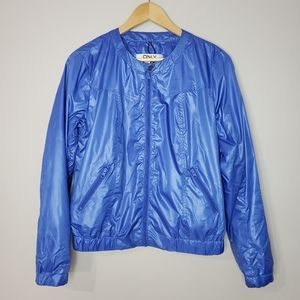 Only Lightweight Blue Size 6 Bomber Style Jacket